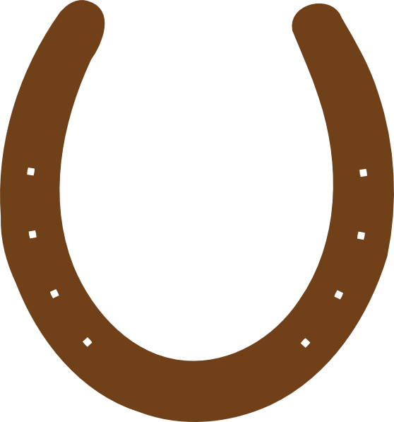 558x597 Brown Horseshoe Clip Art