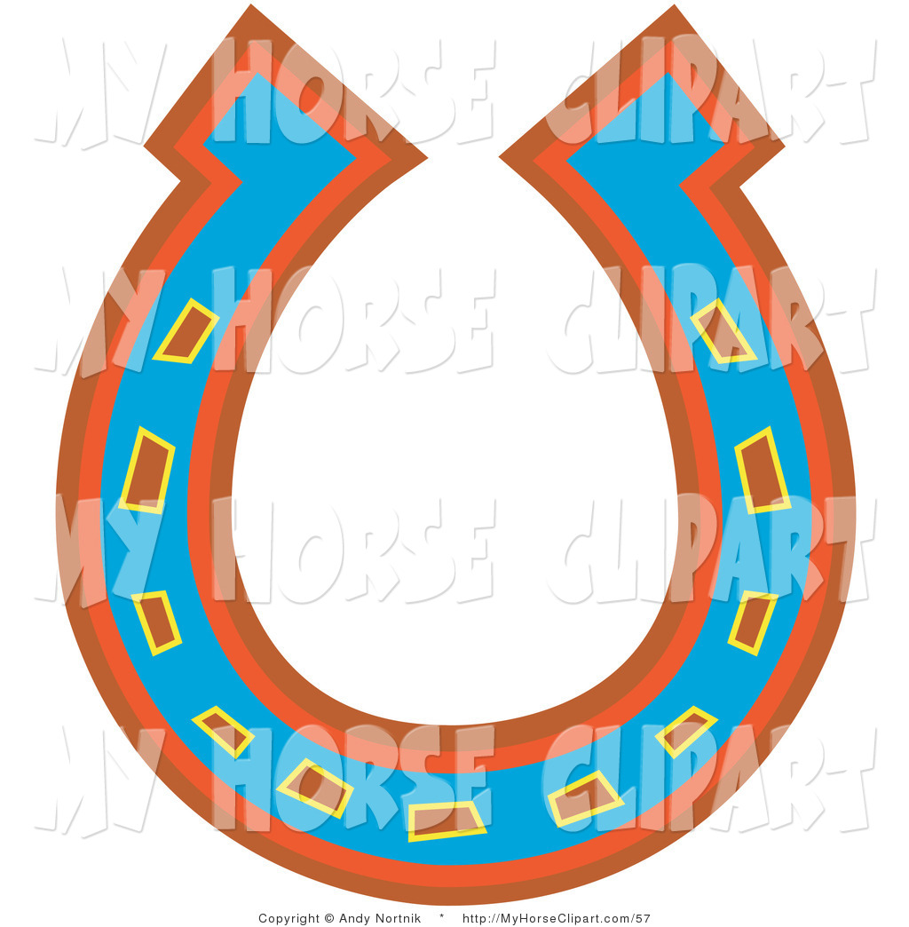 1024x1044 Clip Art Of A Blue, Red And Orange Horseshoe For Good Luck By Andy