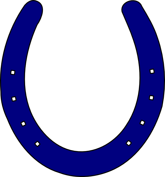 552x594 Royal Blue Horseshoe Clip Art