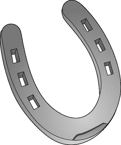 492x593 Silver Horseshoe Clip Art