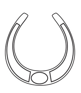 263x300 Horseshoe Shape Drawing Royalty Free Stock Image