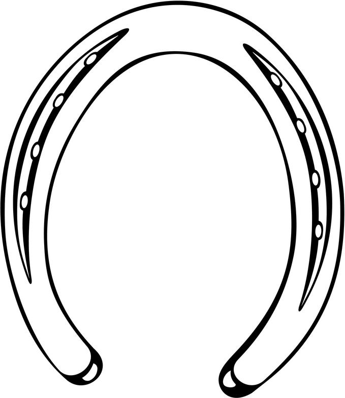 679x784 Horseshoe Clipart Horse Drawing