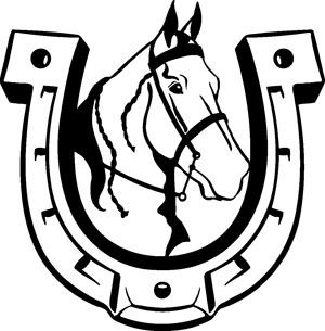 300x305 Horsehead Horseshoe1 Horseshoe Decals Western Amp Rodeo