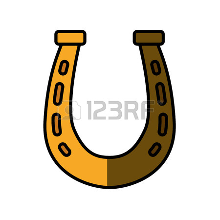 450x450 Gold Horse Shoe Icon Vector Illustration Graphic Design Royalty