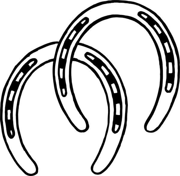 600x586 Horseshoe Clip Art
