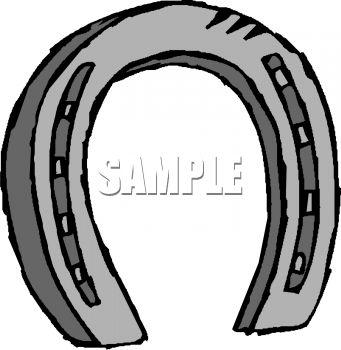 341x350 Royalty Free Clipart Image Horseshoe