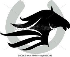 236x191 Clipart Illustration Of A Black Lucky Horse Shoe Clip Art Crafts