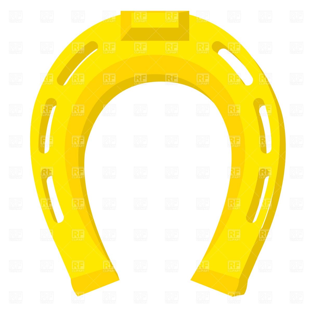 1200x1200 Golden Horseshoe Royalty Free Vector Clip Art Image