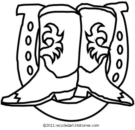 451x435 Drawn Horseshoe Double Horseshoe