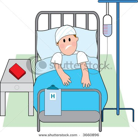 450x451 Cartoon Person In Hospital Bed Royalty Free Illness Stock