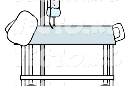 450x300 Clipart Hospital Bed