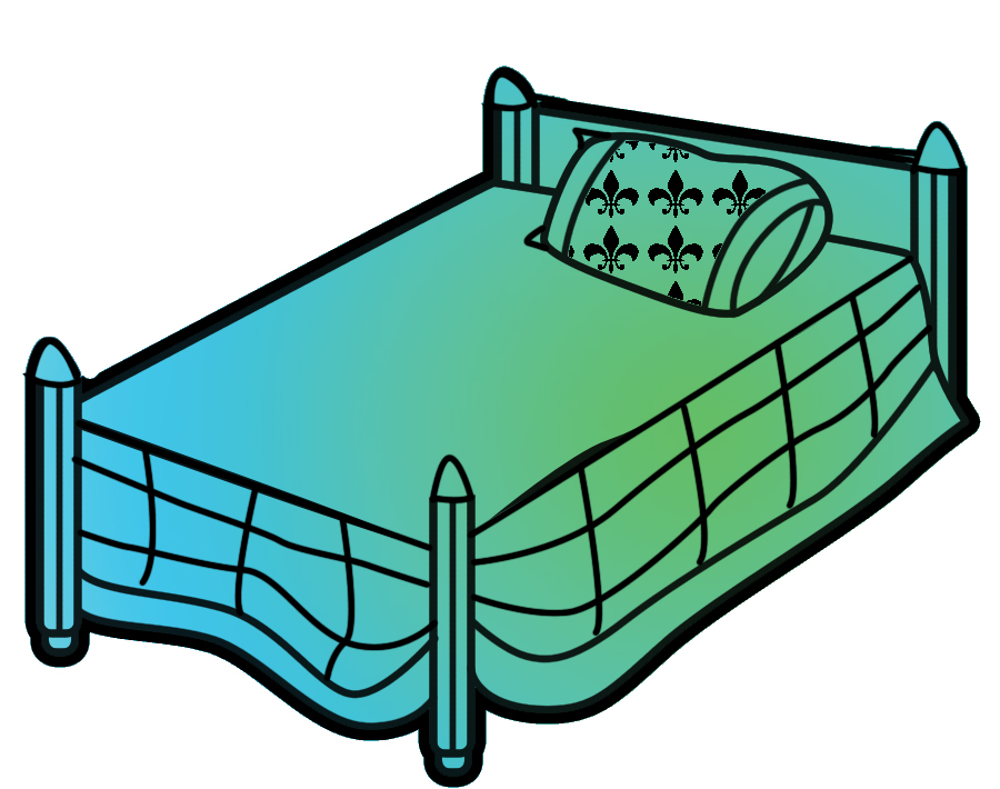 900x710 Free Bed Clipart Clip Art Image