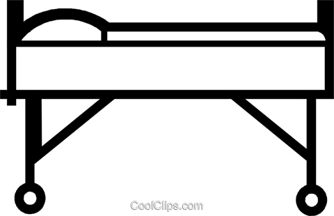 480x310 Hospital Bed Royalty Free Vector Clip Art Illustration Vc046882