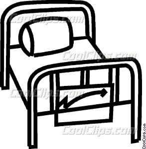 293x300 Hospital Bed Vector Clip Art
