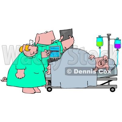 400x400 Illustration Of Nursend Doctor Pigttending To Patient In