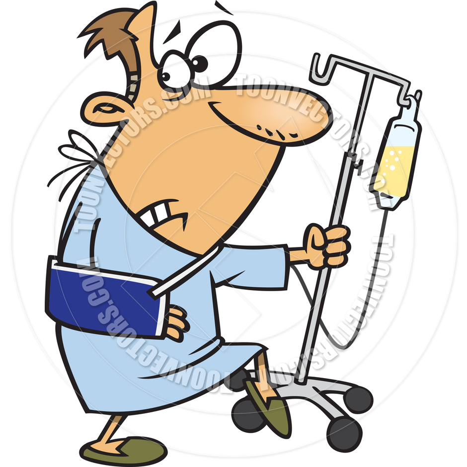 940x940 Cartoon Man Escaping From Hospital By Ron Leishman Toon Vectors