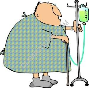 300x295 Clipart of Hospital Stroll