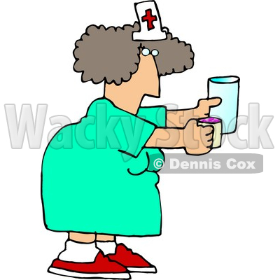 400x400 Nurse Holding A Pill Cup And A Glass Of Water For A Patient