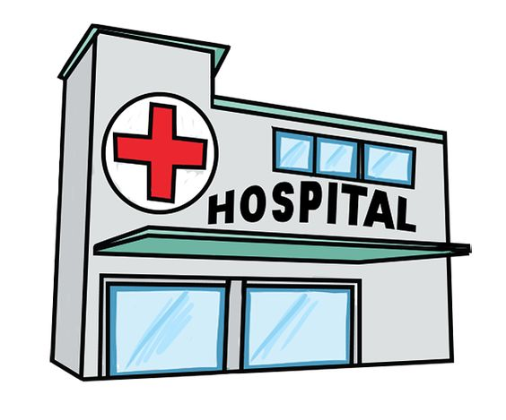 564x469 Windows clipart hospital
