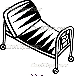 300x306 hospital bedstretcher Vector Clip art