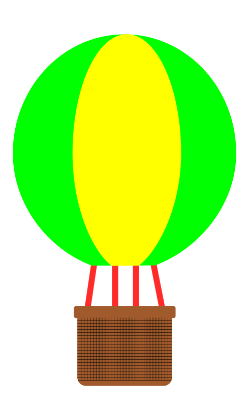 490x800 Graphics For Hot Air Balloon Basket Graphics