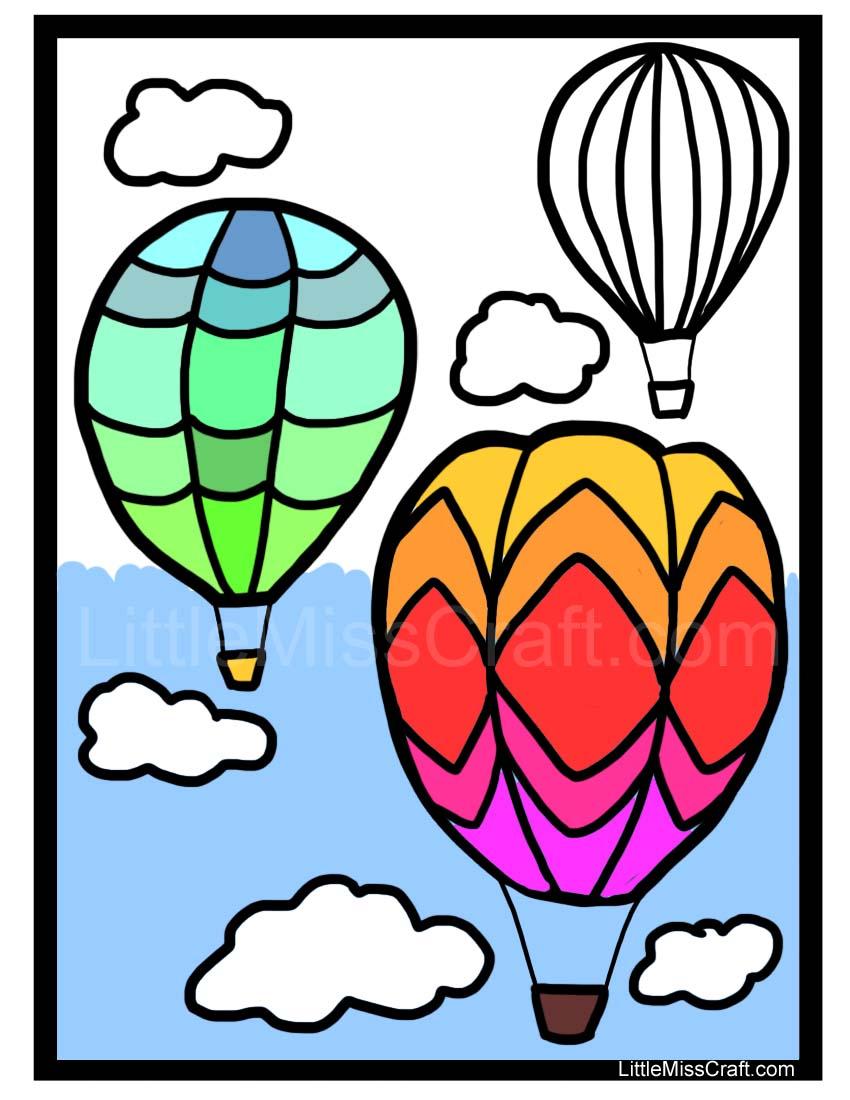 850x1100 Hot Air Balloon Basket Coloring Page ~ Alltoys