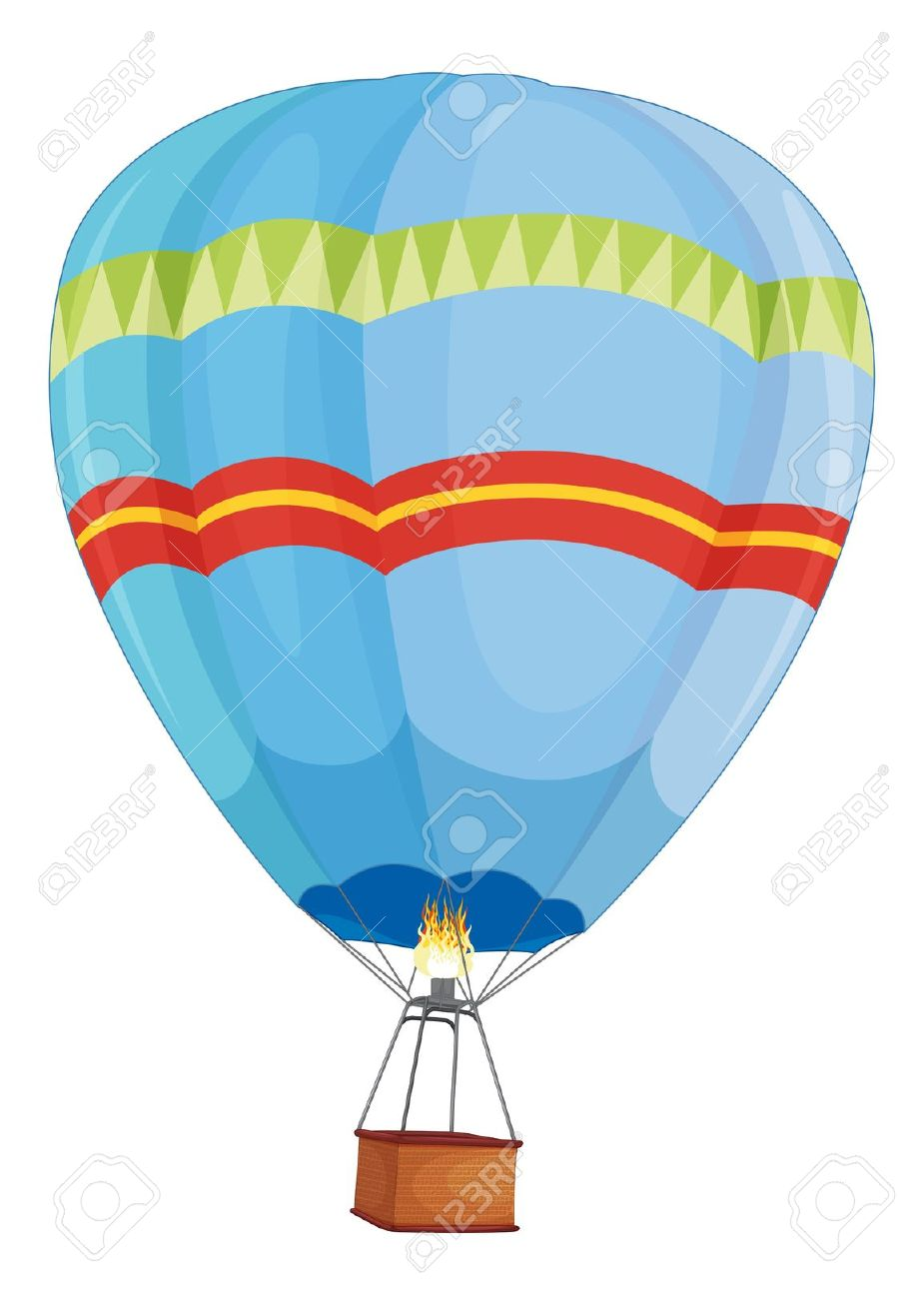 925x1300 Hot Air Balloon Clipart Light Blue