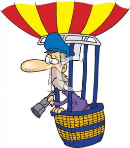 264x300 Hot Air Balloonist In The Basket Of A Balloon