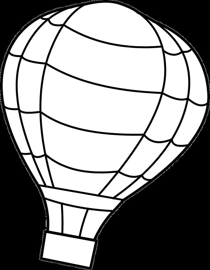 Hot Air Balloon Basket Clipart