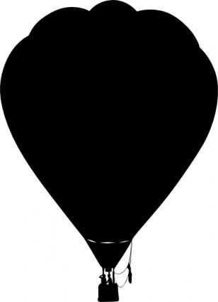 308x425 Clue Hot Air Balloon Outline Silhouette Clip Art Vector, Free