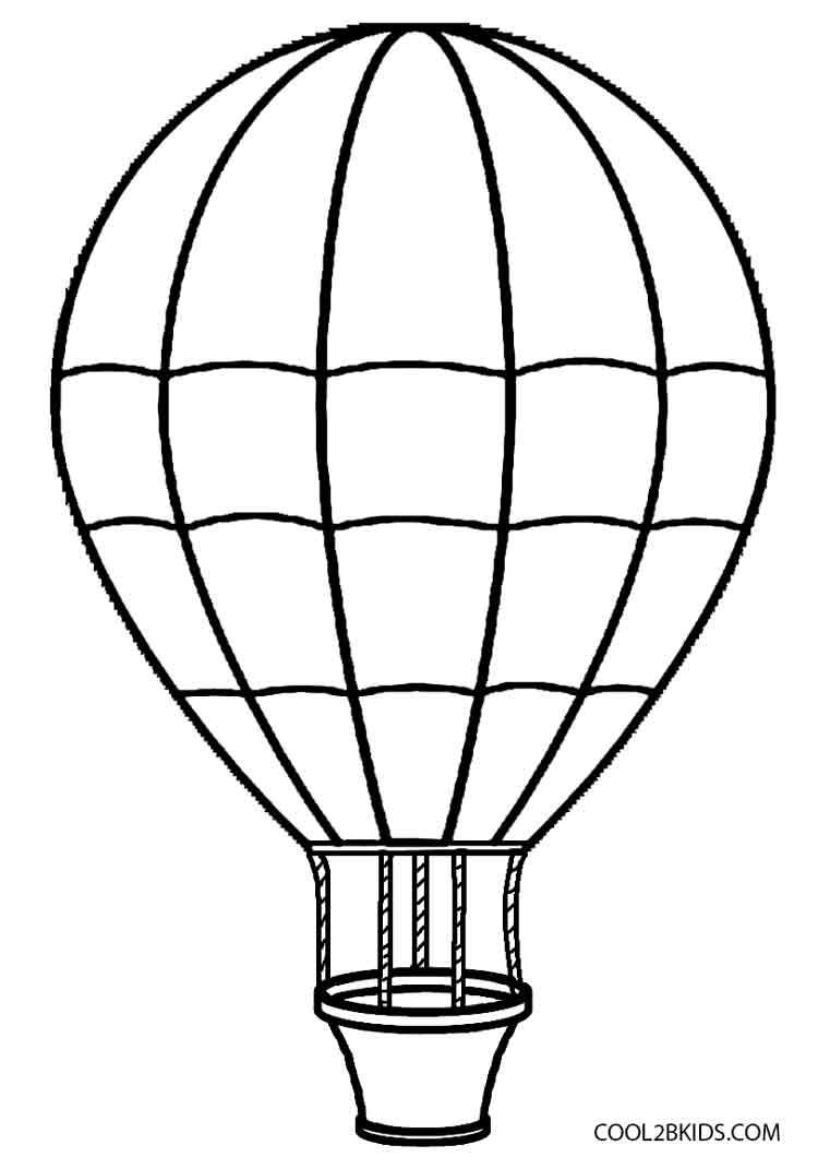 750x1071 Drawn Basket Hot Air Balloon
