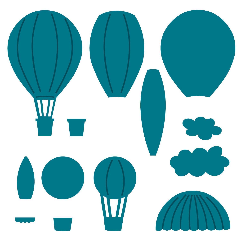 1500x1500 Hd Paper Hot Air Balloon Template Vector Cdr Free Vector Art