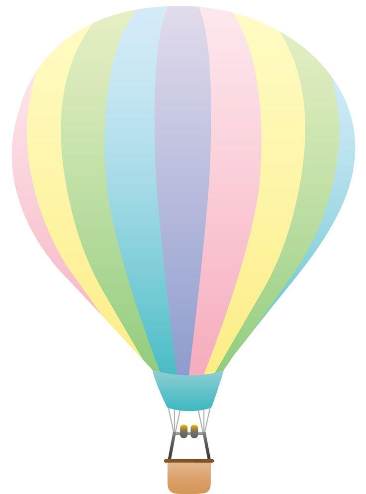 736x994 Hot Air Balloon Clip Art Striped Pastel Colored Hot Air Balloon