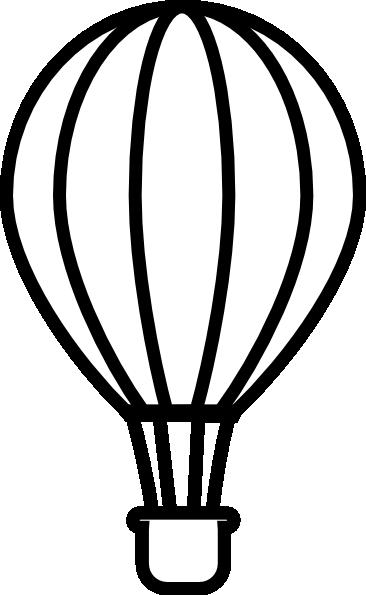 366x595 Hot Air Balloon Outline