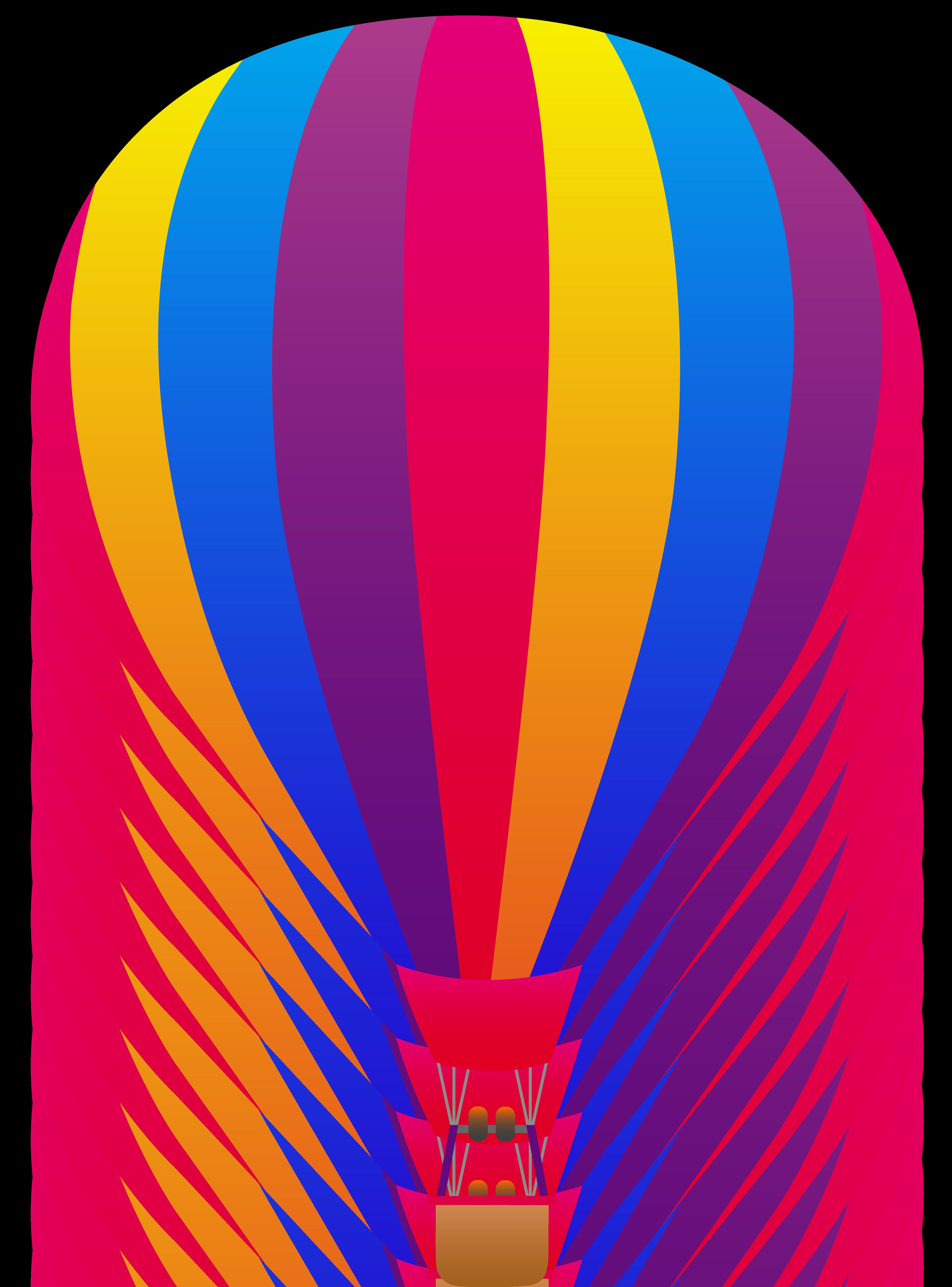 4114x5559 Neon Striped Hot Air Balloon