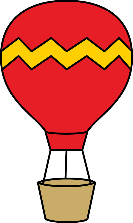 446x747 Red And Yellow Hot Air Balloon Clip Art