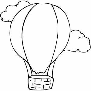 300x300 Drawn Hot Air Balloon Simple