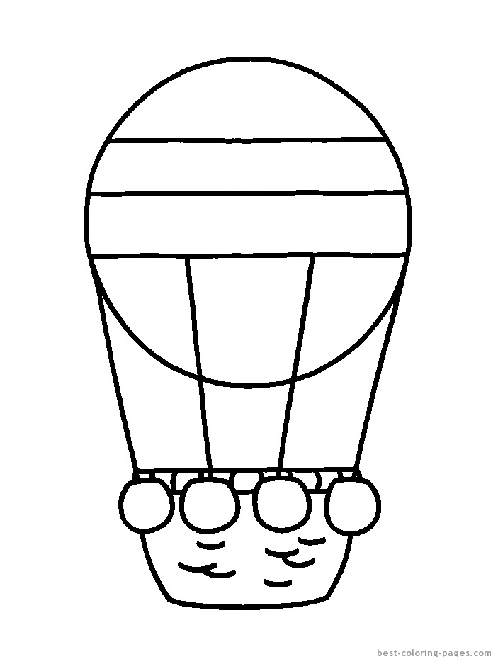 703x937 Hot Air Balloon Coloring Pages Barriee