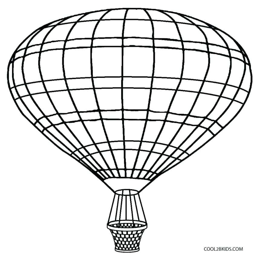 850x855 Balloon Coloring Pages Printable Hot Air Balloon Coloring Pages