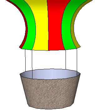 346x353 Hot Air Balloon In Google Sketchup