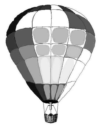 400x503 Hot Air Balloon Black And White Hot Air Balloon Clipart Free
