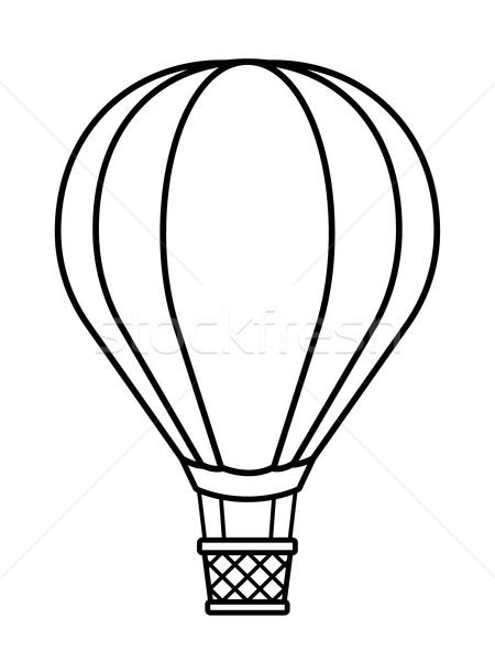 450x600 Hot Air Balloon Cartoon To Crayon Vector Illustration Adrian