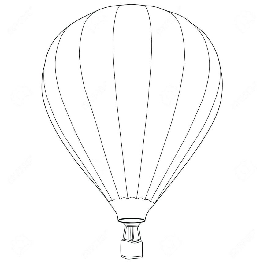 Hot Air Balloon Basket Drawing | Free download best Hot Air Balloon ...