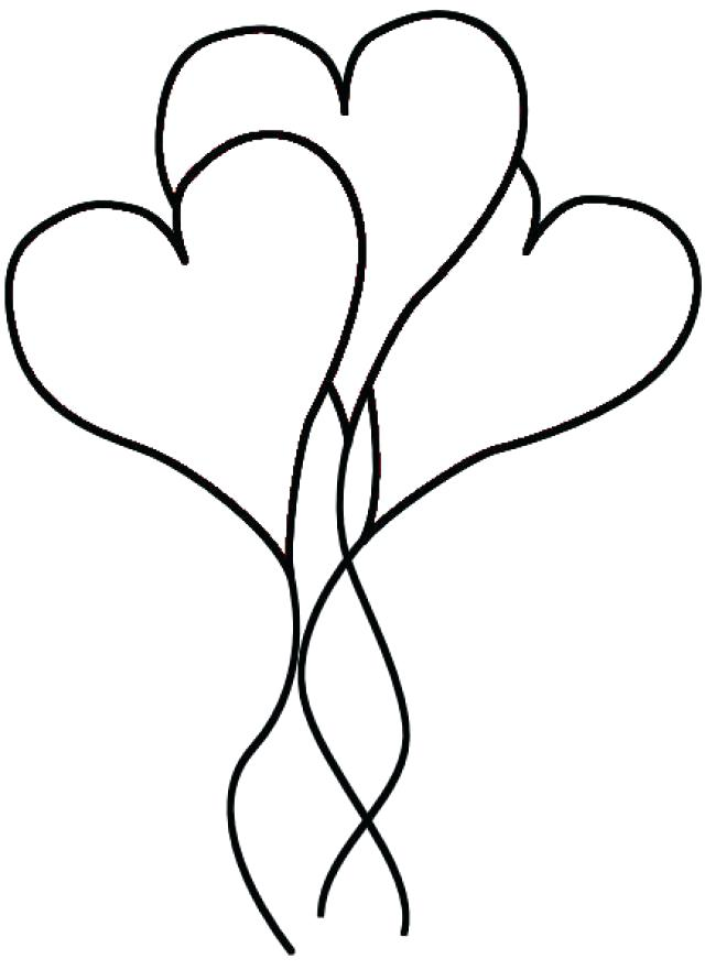 640x881 Balloon Coloring Pages