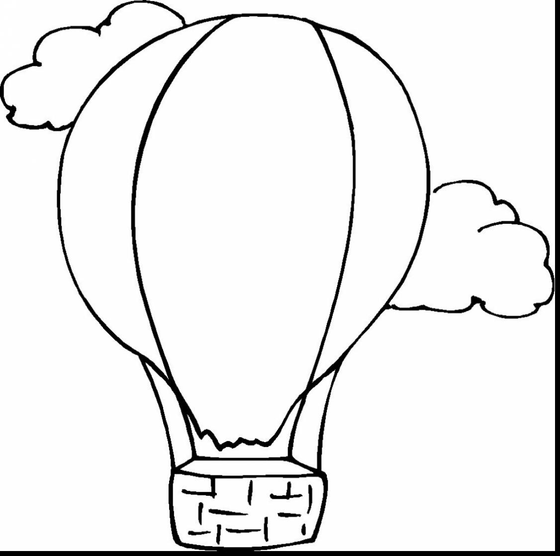 1126x1118 Superb Hot Air Balloon Drawing With Hot Air Balloon Coloring Page