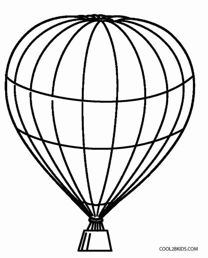 700x868 Drawn Hot Air Balloon Blank