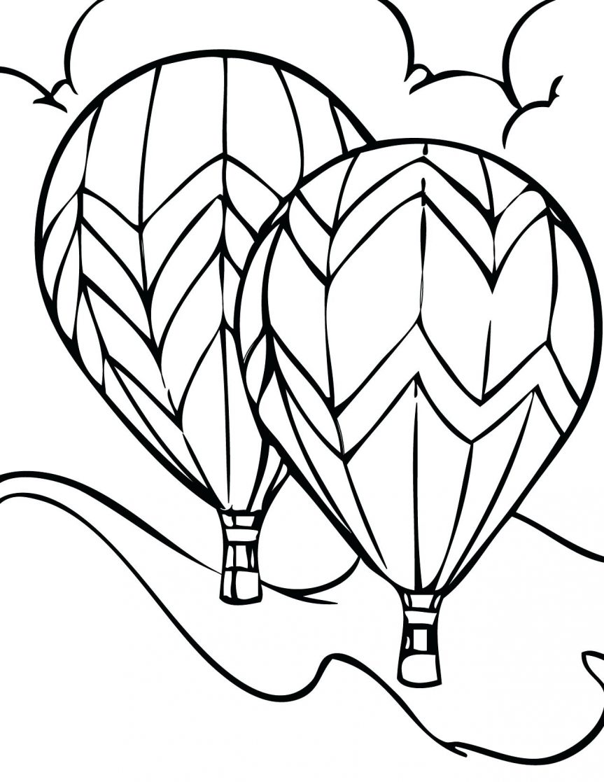 863x1117 Coloring Pages Terrific Hot Air Balloon Outline. Hot Air Balloon