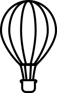 183x298 Hot Air Balloon Black Clip Art