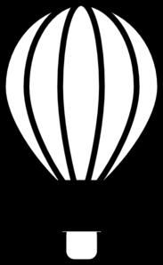 183x298 Hot Air Balloon Black Clip Art