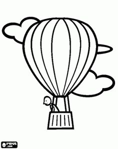 236x298 Hot Air Balloon Coloring Pages